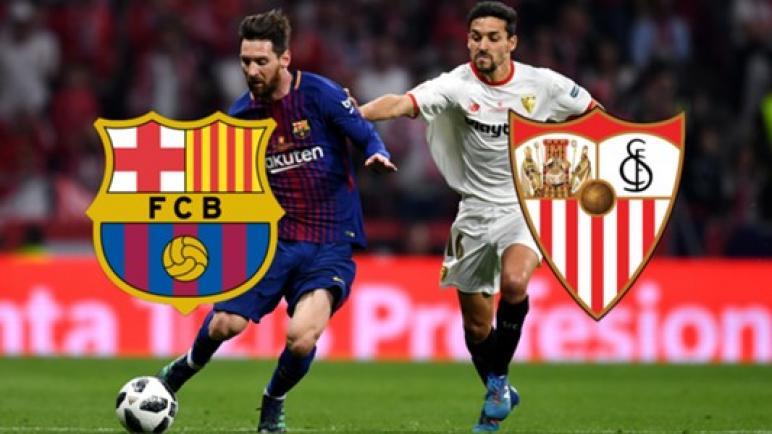 رابط يالاشوت الجديد لايف مباراة برشلونة واشبيلية فى الدوري الأسباني